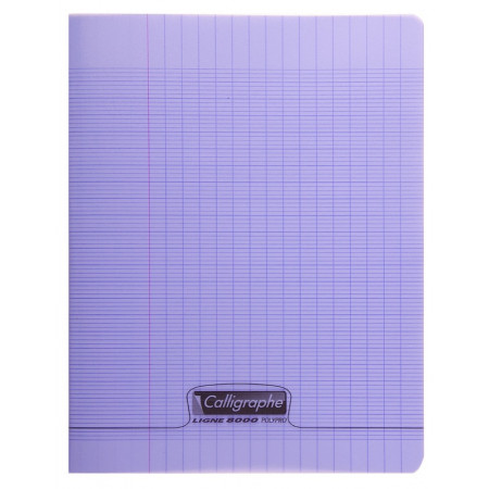 CAHIER POLYPRO, Grand Format, Grands Carreaux, 24X32 - 48 PAGES SEYES VIOLET