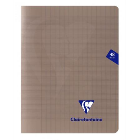 CAHIER POLYPRO, Petit Format, Grands Carreaux, 17X22 48 PAGES SEYES GRIS