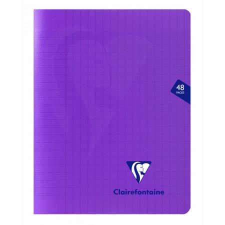 Mimesys cahier piqué polypro 17x22cm 48p séyès Violet