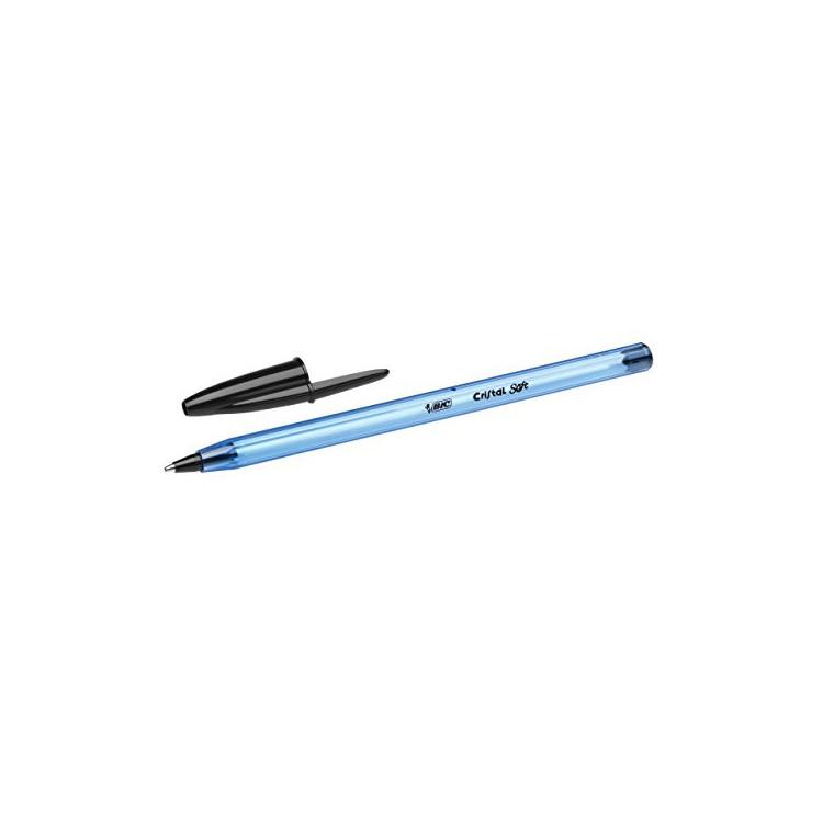 STYLO BILLE - BIC CRISTAL - 1,0mm - EPAISSEUR DE TRAIT - NOIR