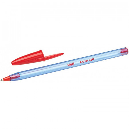 STYLO BILLE - BIC CRISTAL - 1,0mm EPAISSEUR DE TRAIT - ROUGE