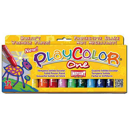 Lot de 12 sticks de gouache solide Playcolor en stick.