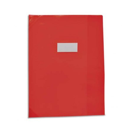 PROTEGE CAHIER 24X32 ROUGE