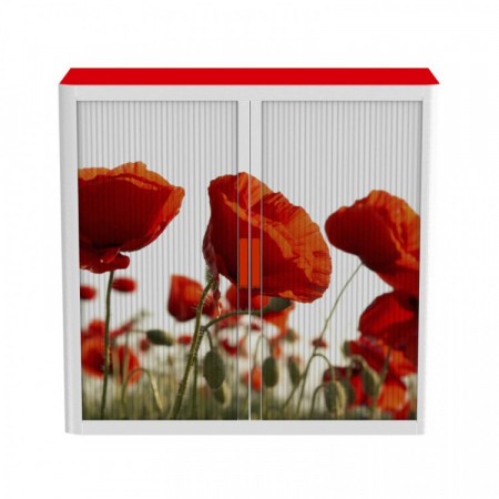 ARMOIRES BASSE A MOTIFS : COQUELICOT